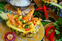 King Prawns in Red Curry with Pineapple