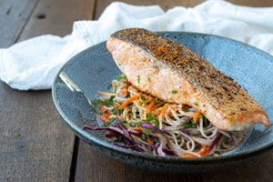 5 Ingredient Salmon Soba Noodle Salad