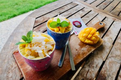 Mango Coconut Pudding