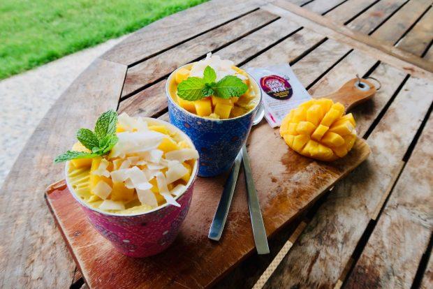 Mango Coconut Pudding